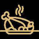 Buffet de plats et bar à grillades